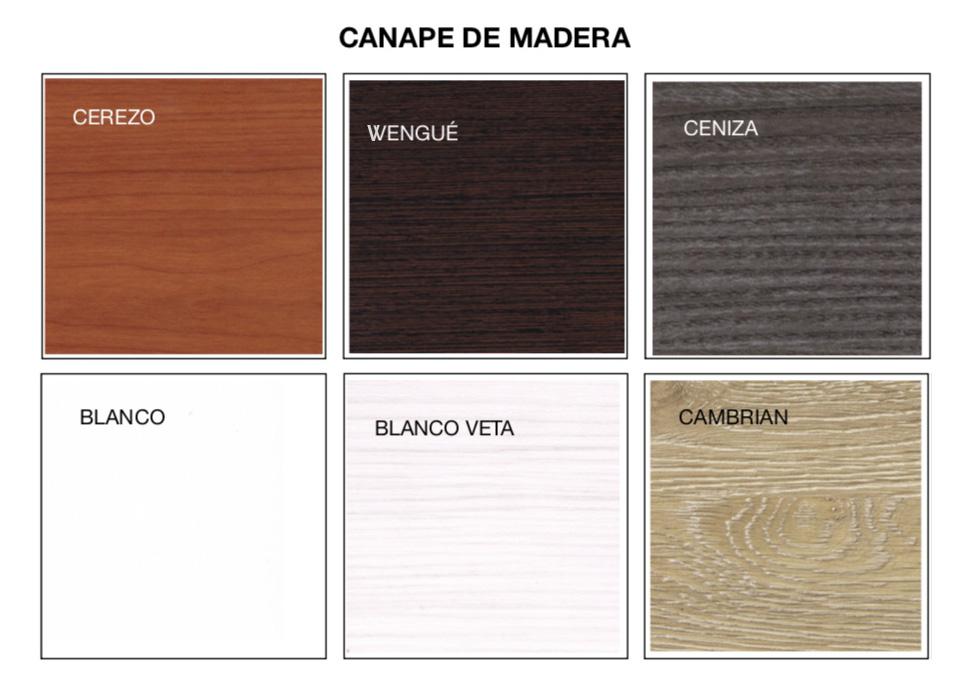 Colores Canapé Madera Novosueño