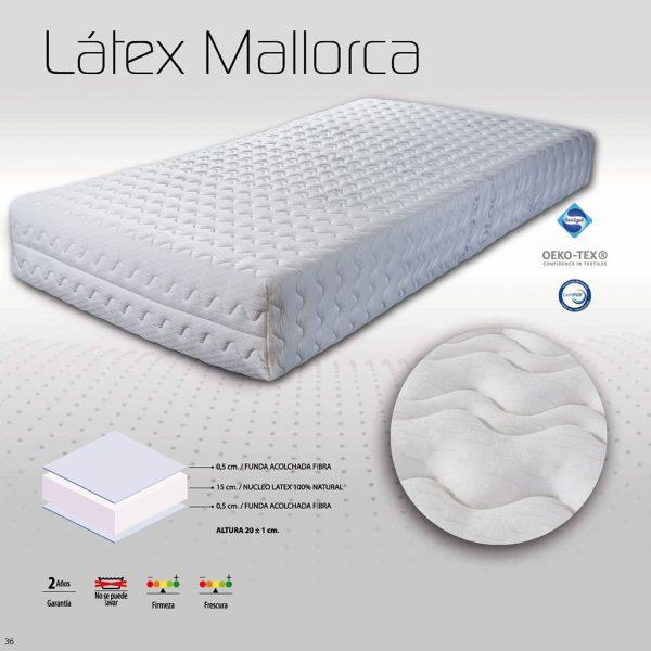 Características colchón Latex Mallorca NovoSueño