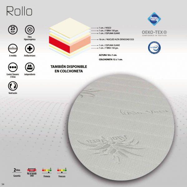 Características colchón Rollo V-10 NovoSueño