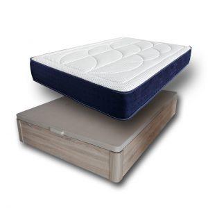 Pack Colchón Bi Memory + Canapé Madera