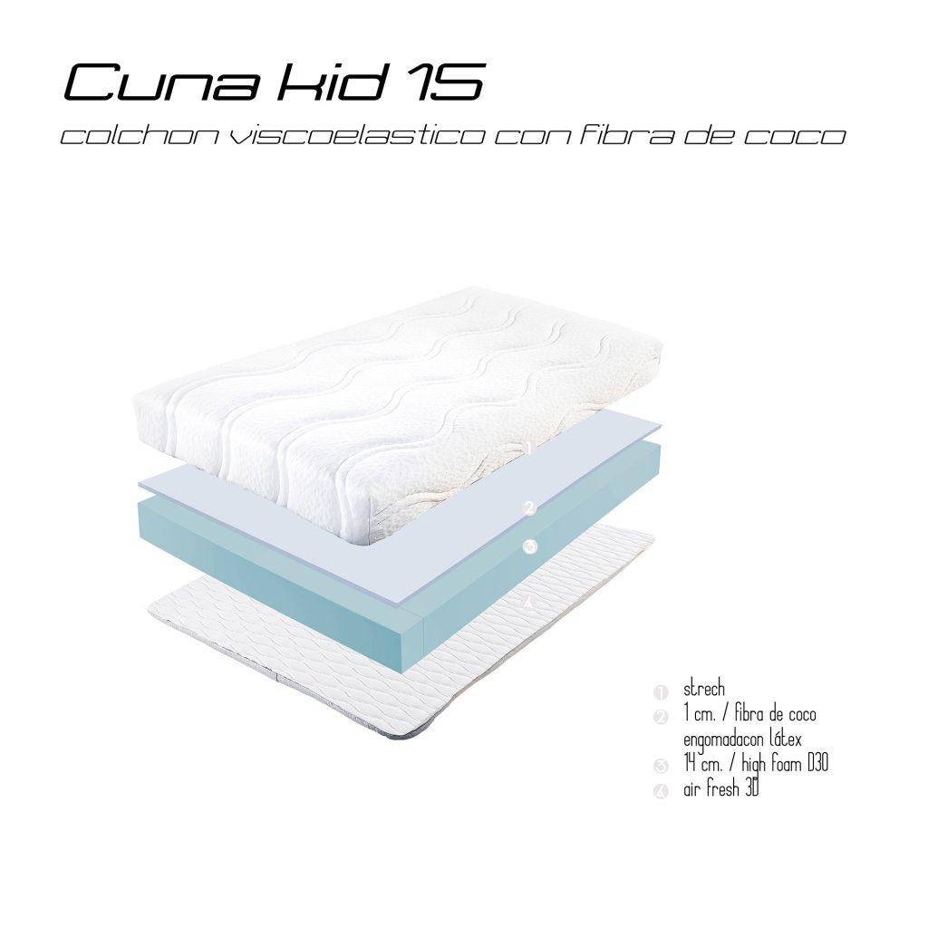 Colchon CUNA-KID-15